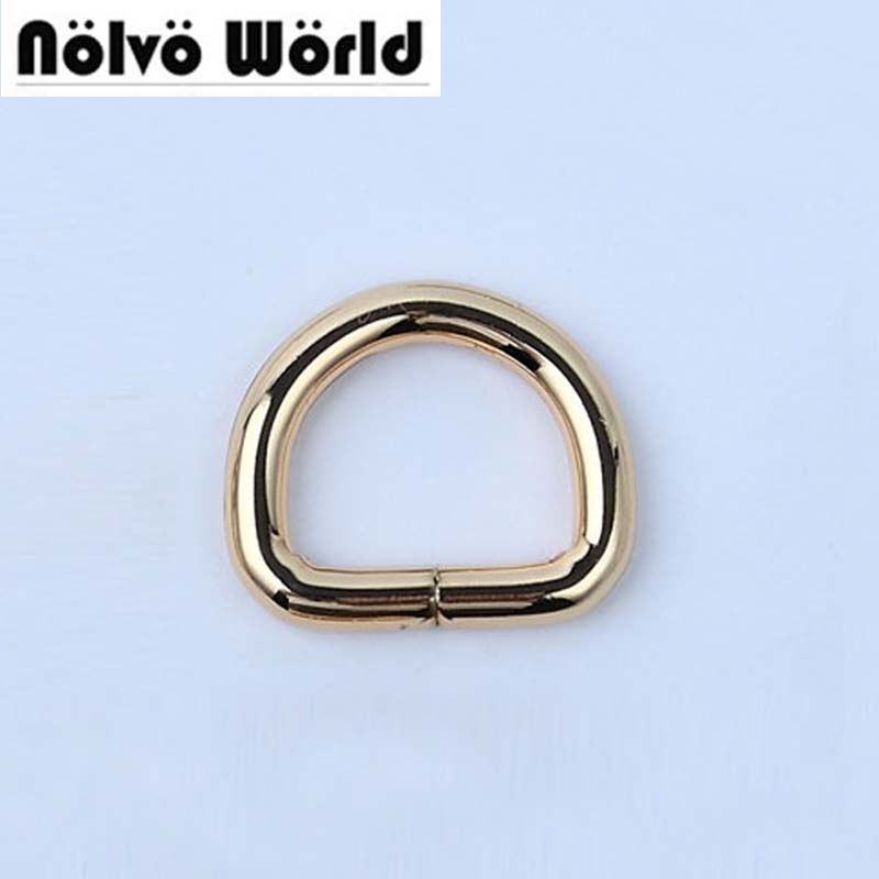 50pcs 5 COLORS 4.0mm 20X16mm 2cm d ring,3/4 inch Gold color round edge non welded d ring,alloy metal belt open ring buckle color ring inductance 0307 3 9uh a03073r9 color code 20