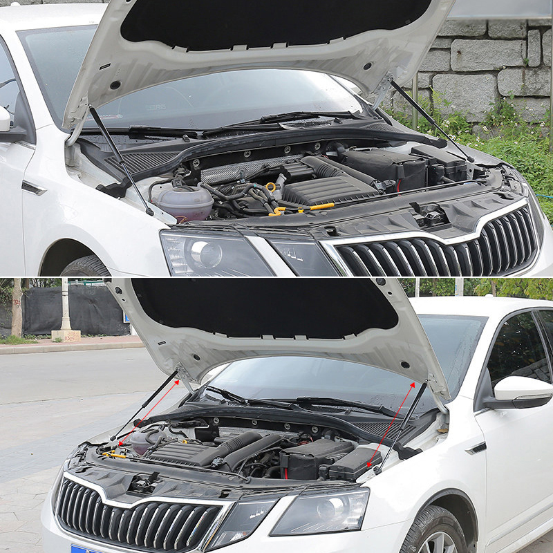 For Skoda Octavia Mk3 2014 2015 2016 2017 2018 2019 Hood Cover Hydraulic Rod Strut Telescopic Rod Engine Hood Lift Support 2pcs-in Interior Mouldings from Automobiles & Motorcycles    1