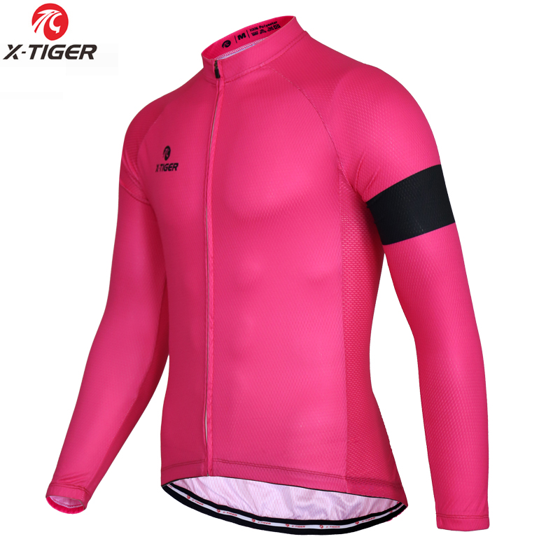 X-Tiger 100% Polyester Cycling Jerseys Long Sleeve Bicycle Clothing Quick-dry Men's Bike Wear Sportswear Ropa Ciclismo 2018