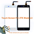 """Black White Touch Screen For ZTE Blade L3 5.0"""" Front Glass Digitizer Panel Sensor Lens Replacement With Three Versions 1.0 /1.1"""