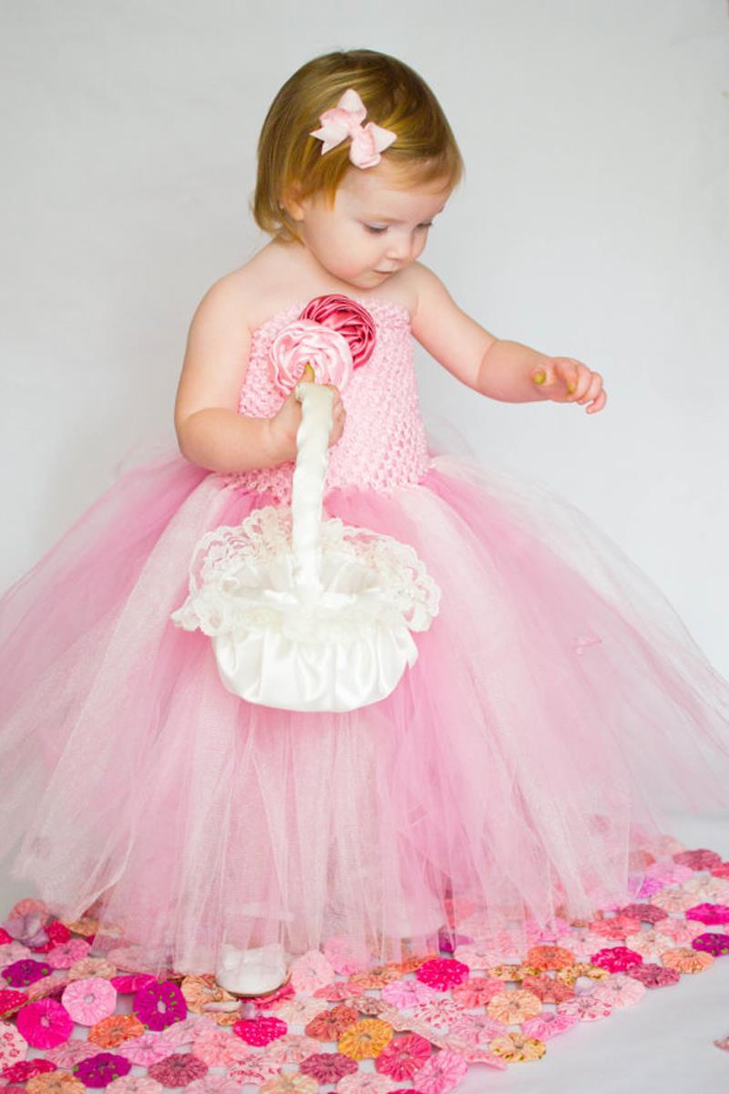 Pink & White mixed Blume Mädchen Tutu Kleid Handgemachte Baby ...