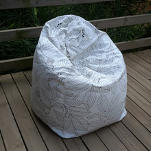 The  Leaves Style Bean Bag Chair Garden Camping Beanbag Cover Lazy Sofa Anywhere Portable Sitting Cushion
