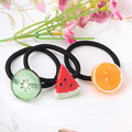 New Fruit Slice Multi-Patterns Hair Accessories Girl Women Elastic Hair Band Rubber Bands Headwear Tie Gum Holder Rope Scrunchy