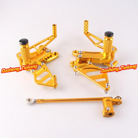 Motorcycle Adjustable Rearset Rear Set Footpegs Foot Rests For Honda CBR954/929RR CBR 954/929 RR 2002 2003 Pair