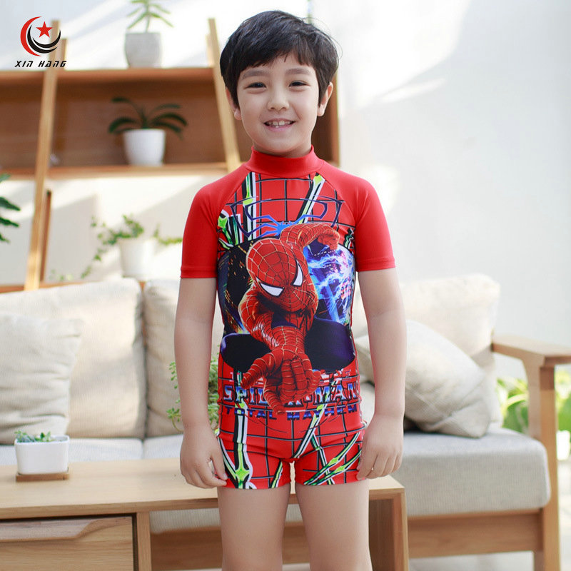 New Boys One-piece Swimsuits Anti-UV Wetsuits For Kids Baby Swimwear Children Shorts Diving Surfing Suit Beach Wear Boxers M-XXL