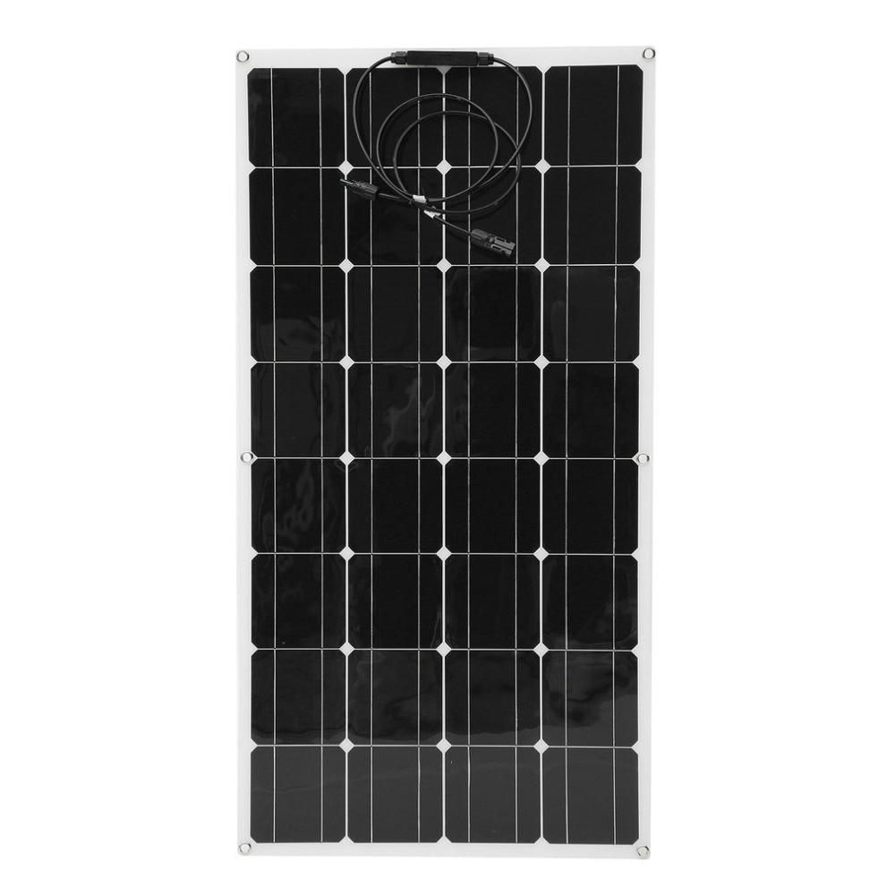 100W Monocrystalline Flexible Solar Panel Module Outdoor Solar Charging Device Solar Power System For Off Grid RV Boat xinpuguang solar panel 6v 40w monocrystalline photovoltaic panels 40 watt 6 66a dc charging for rv car boat outdoor travel
