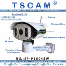TSCAM new SP-P1804SW Full HD 1080P 2.0MP ONVIF IP Camera Wireless Pan/Tilt Rotation with TF Card Slot Array IR Night 100M