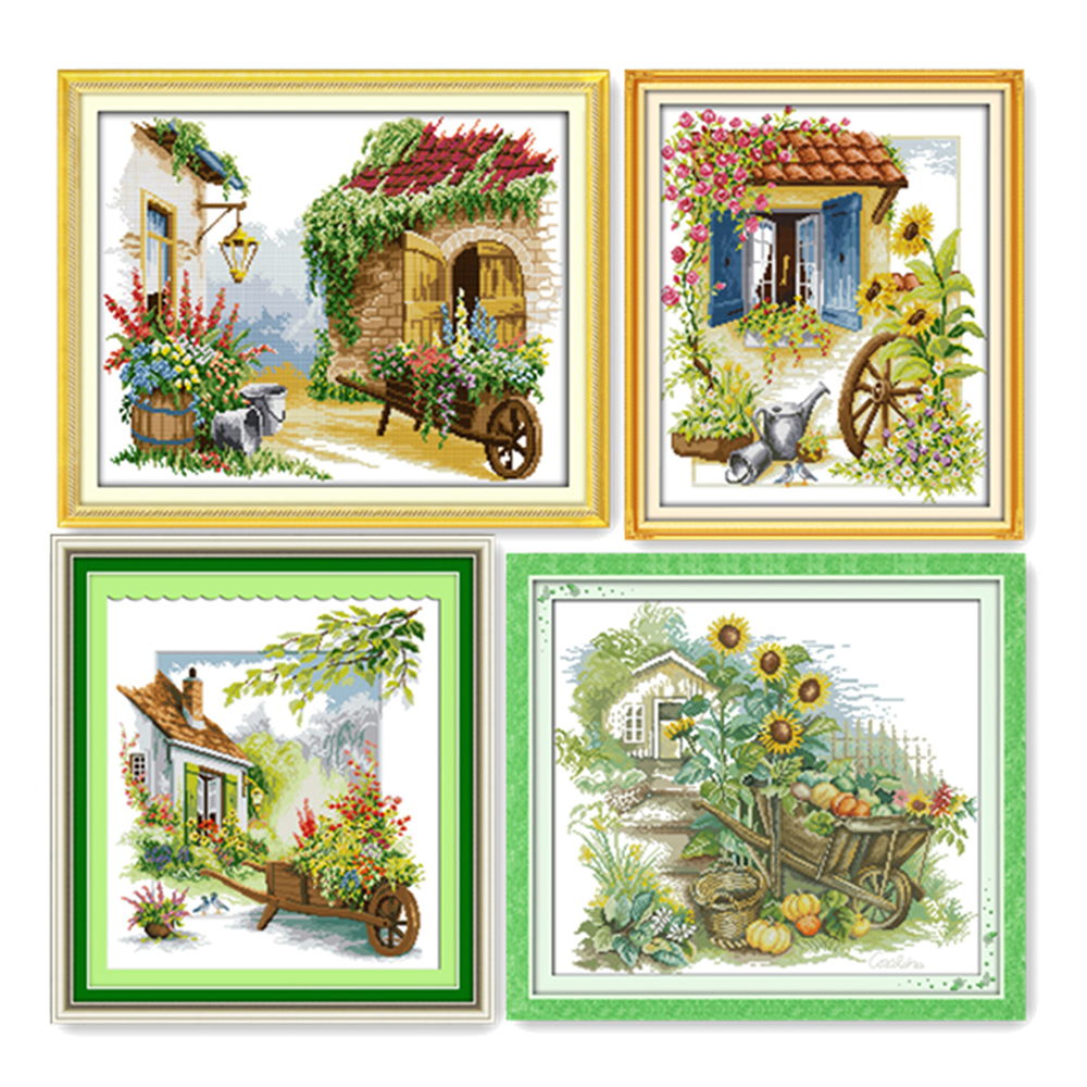 Everlasting Love Little float Ecological cotton chinese Cross Stitch kits 11 14CT stamped DIY gift new year decorations for home