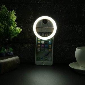 Image 5 - USB LED الجمال ملء ضوء الإضاءة التكميلية ليلة الظلام Selfie تعزيز للهاتف تهمة Selfie مصباح مصمم على شكل حلقة ringlight