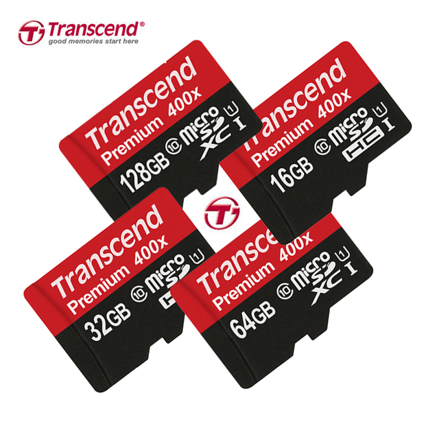 Transcend Sealed Real 128GB 64GB 32GB 16GB MicroSD MicroSDXC Micro SD SDHC SDXC Card 60MB/S class 10 UHS-1 TF Memory Card