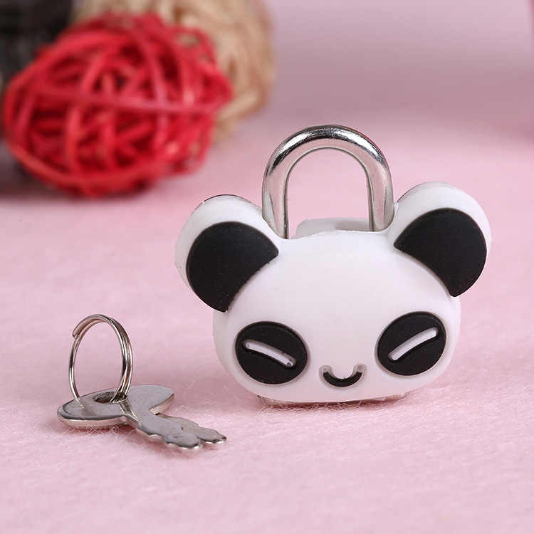 Cute Mini Cartoon Padlocks Key Lock With key Luggage lock for Zipper Bag Backpack Handbag Drawer Cabinet /Tiny Craft party favor