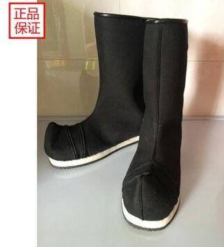 Zapatos antiguos de espadachín botas botas clásicas botas altas negras botas guerrero guerrero chino antiguo cosplay accesorios
