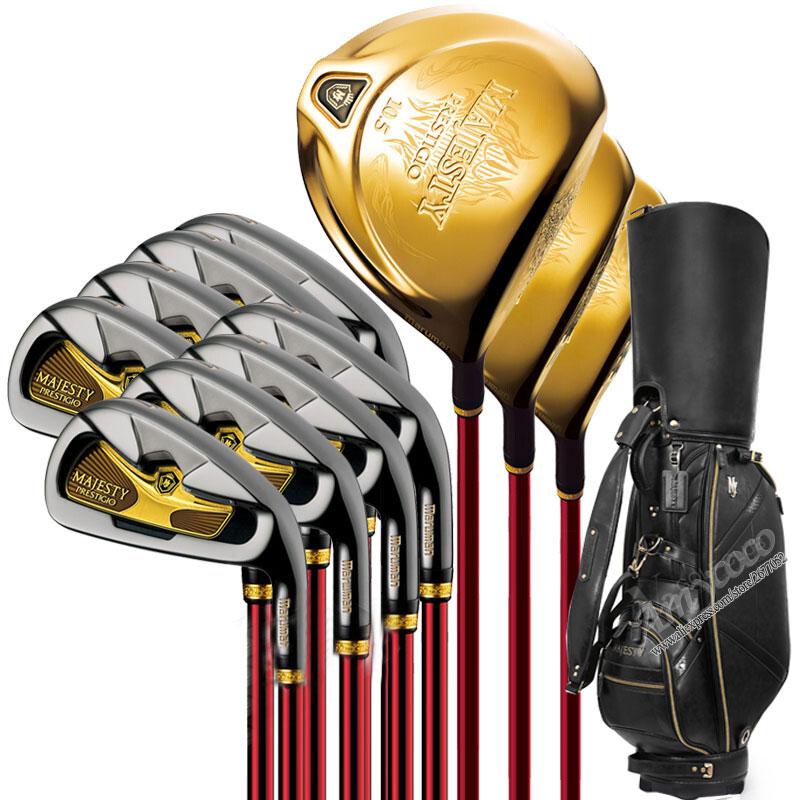New Golf Clubs Maruman Majesty Prestigio 9 Complete Clubs Set Golf Driver Wood Irons Putter And Golf Bag Graphite Golf Shaft