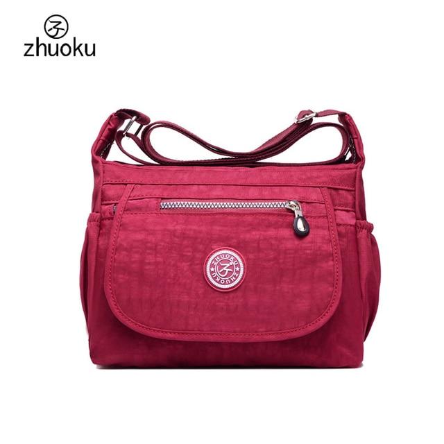 b616e7b0dc31 ZHUOKU Crossbody bags for women 2017 good quality shoulder bags brand  design handbag Very cheap price
