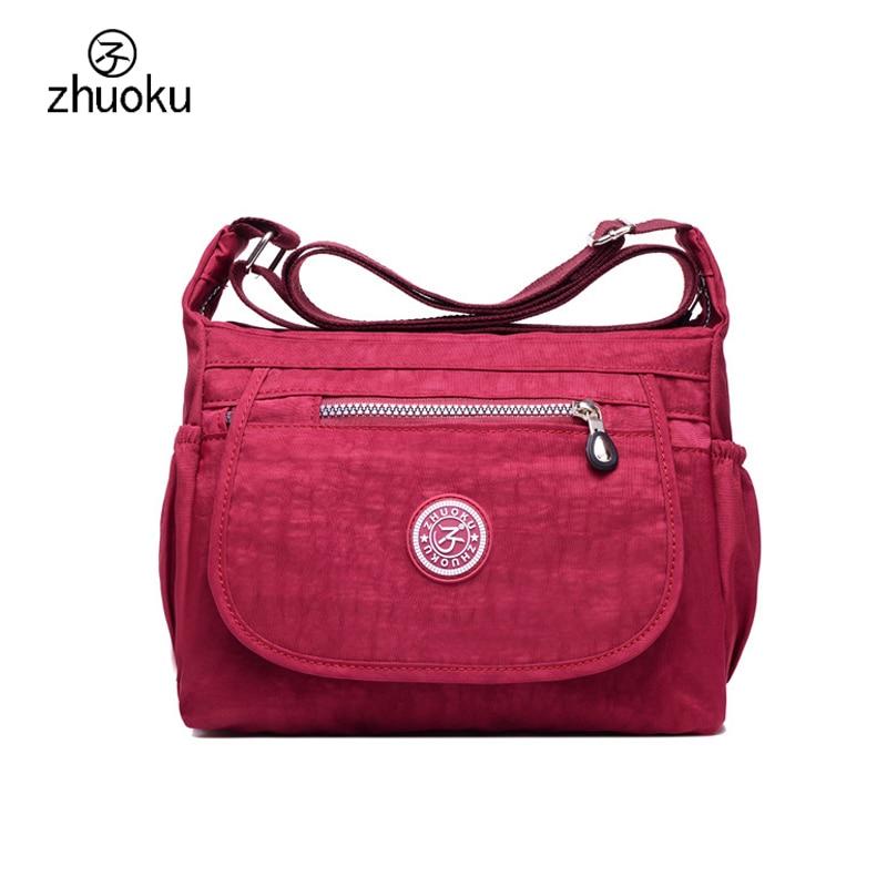 ZHUOKU Crossbody bags for women 2017 good quality shoulder bags brand design handbag Very cheap price female pouch ZK1004