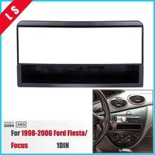 1 DIN Автомобильная установка DVD рамка, DVD панель, приборная панель, автомобильная панель Радио Рамка аудио рамка для 1998-2006 Ford Fiesta/Focus 1DIN