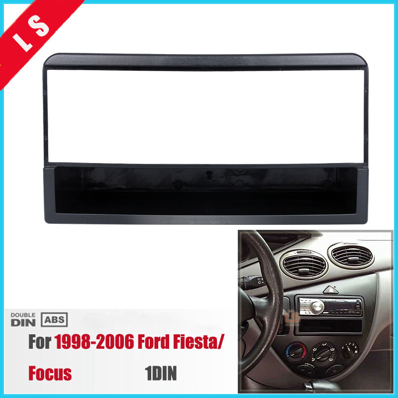 1 DIN Car Refitting DVD Frame, DVD Panel, Dash Kit Car Fascia Radio Frame Audio Frame for 1998-2006 Ford Fiesta / Focus 1DIN image