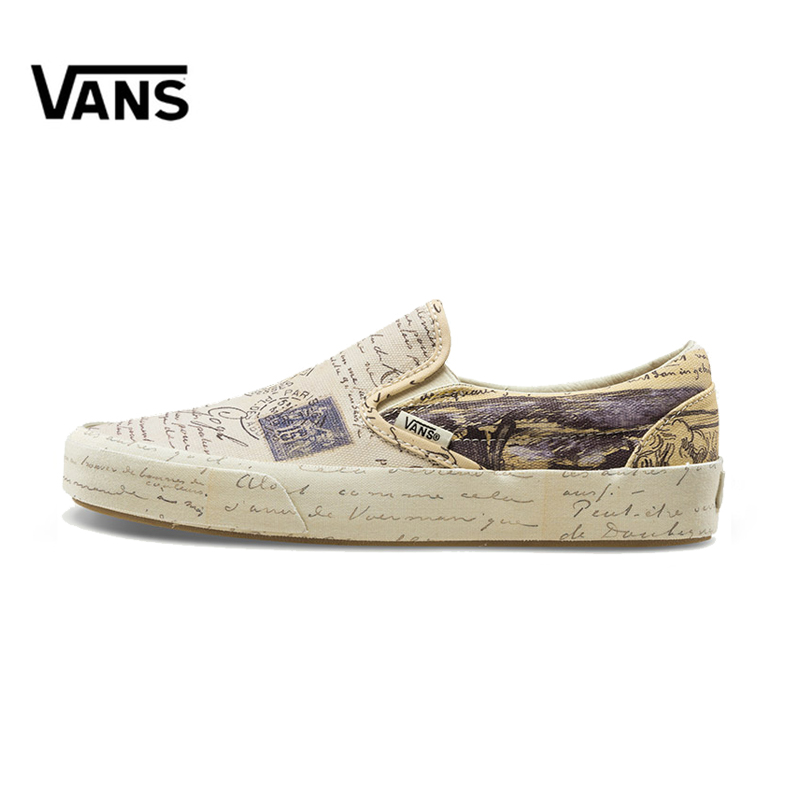 купить Original New Arrival Vans X Men and Women Classic Slip-On Low-top Skateboarding Shoes Outdoor Sneakers Canvas Comfortable