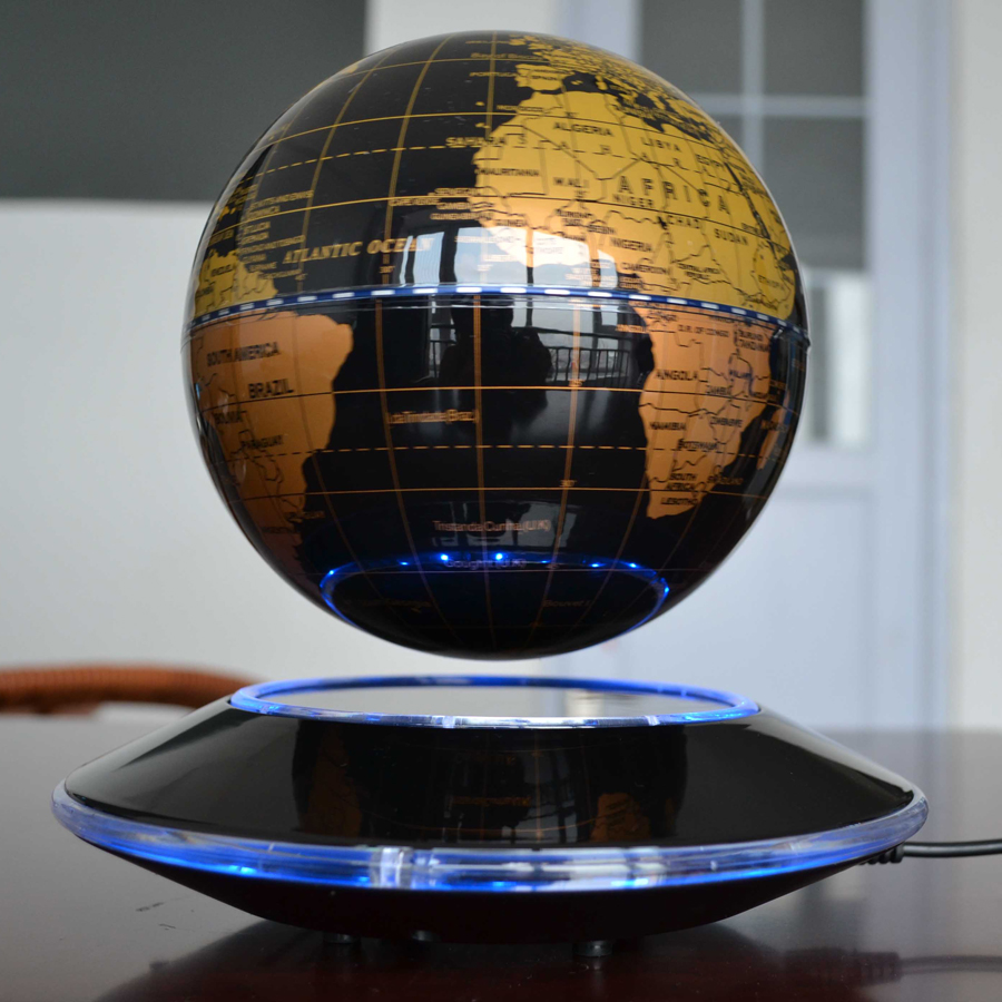 6 inch electronic magnetic levitation floating globe world map with 6 inch electronic magnetic levitation floating globe world map with led lights home office decoration business gift new in figurines miniatures from home gumiabroncs Images