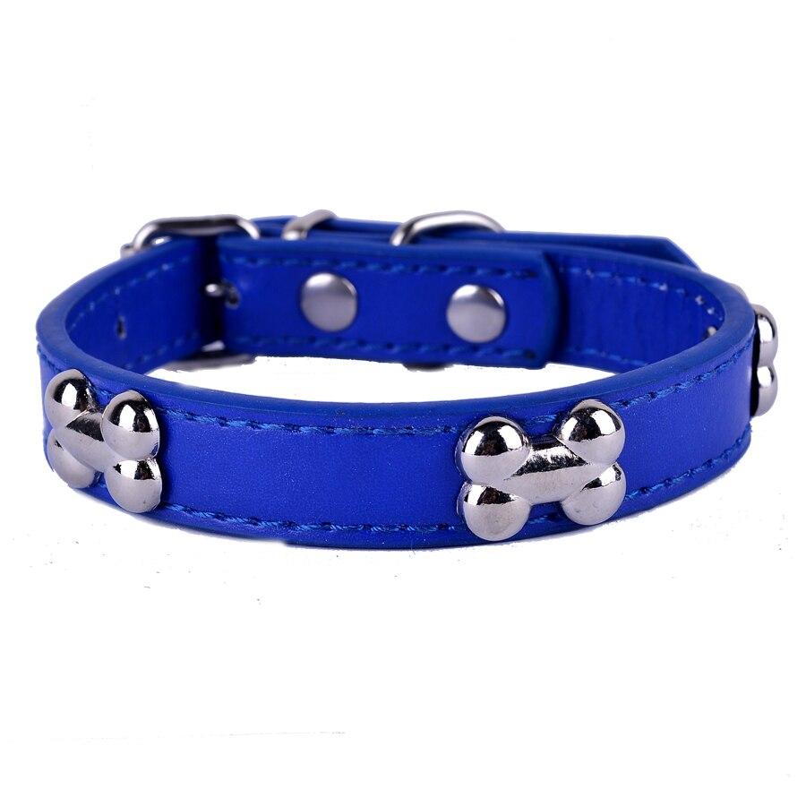 Purple Leather Studded Dog Collars