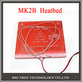 New 3D Printer Parts MK2B Heatbed + LED + Resistor + Cable + 100K ohm Thermistors PCB Heated Bed diy kit  White Red Black Color!