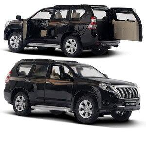 Image 4 - Modelo de aleación Toyota Prado 1:32 de alta calidad, juguetes de simulación para niños, modelo todoterreno, envío gratis