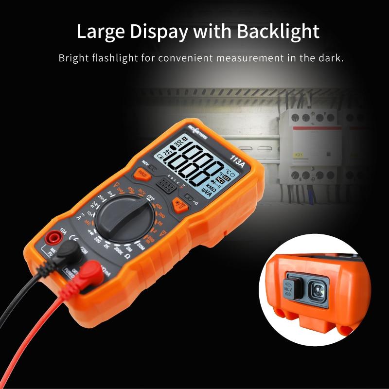 HTB1V3jjPYPpK1RjSZFFq6y5PpXal RICHMETERS RM113D NCV Digital Multimeter 6000 counts Auto Ranging AC/DC voltage meter Flash light Back light Large Screen 113A/D