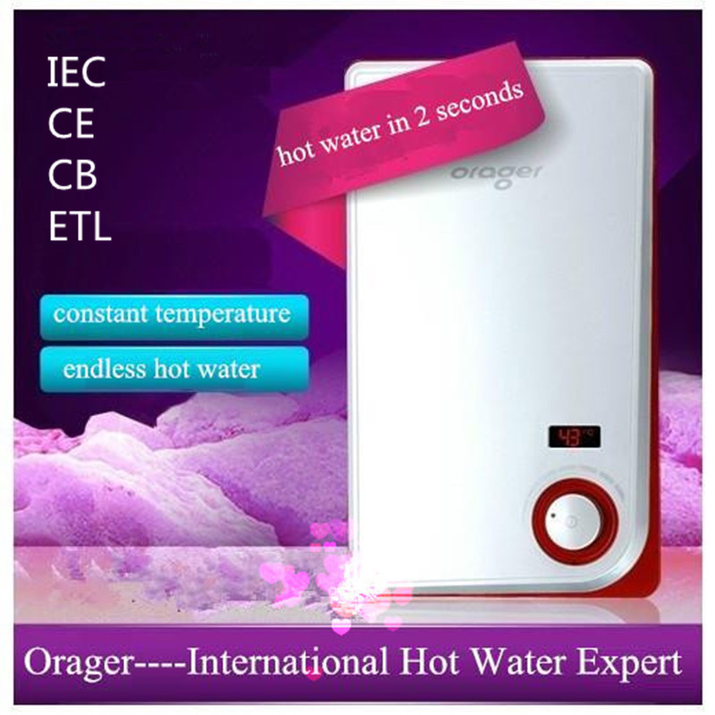 Electric Instantaneous heating Water Heater with thermastate temperature for Household Hotel Bathroom Shower sink wash Hot Tap free shipping gas water heater household bathroom constant temperature