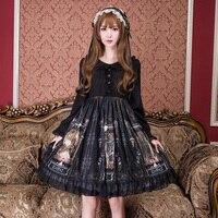 Принцесса сладкий платье в стиле «Лолита» летние модные и милые платья для девочек студентов Прекрасный японский Лолита Ретро замок женщин