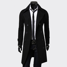 Mens Trench Coat Fashion Men Long clothe