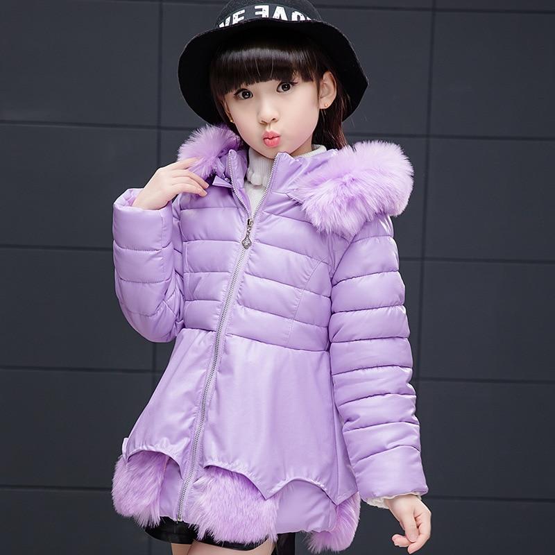 Children Outerwear Warm Jacket New 2017 Children Parka Girls Winter Coat Long Down Jackets Thick Hooded Winter Jacket For Girls