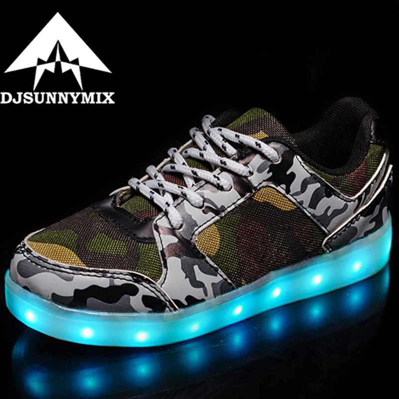 DJSUNNYMIX 2018  Boys Girls USB Charger led Children Shoes with Light Kids Wing Flashing Lighted Luminous chaussure Sneakers joyyou brand boys girls glowing usb children luminous sneakers with light up led school footwear illuminated teenage kids shoes