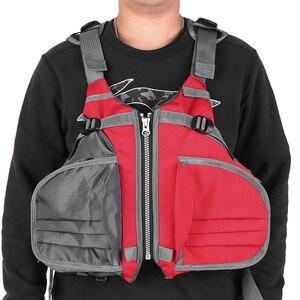 Image 2 - דייג Vest מתכוונן לנשימה שיט קיאקים שייט הציפה מעיל חזיית אבזר