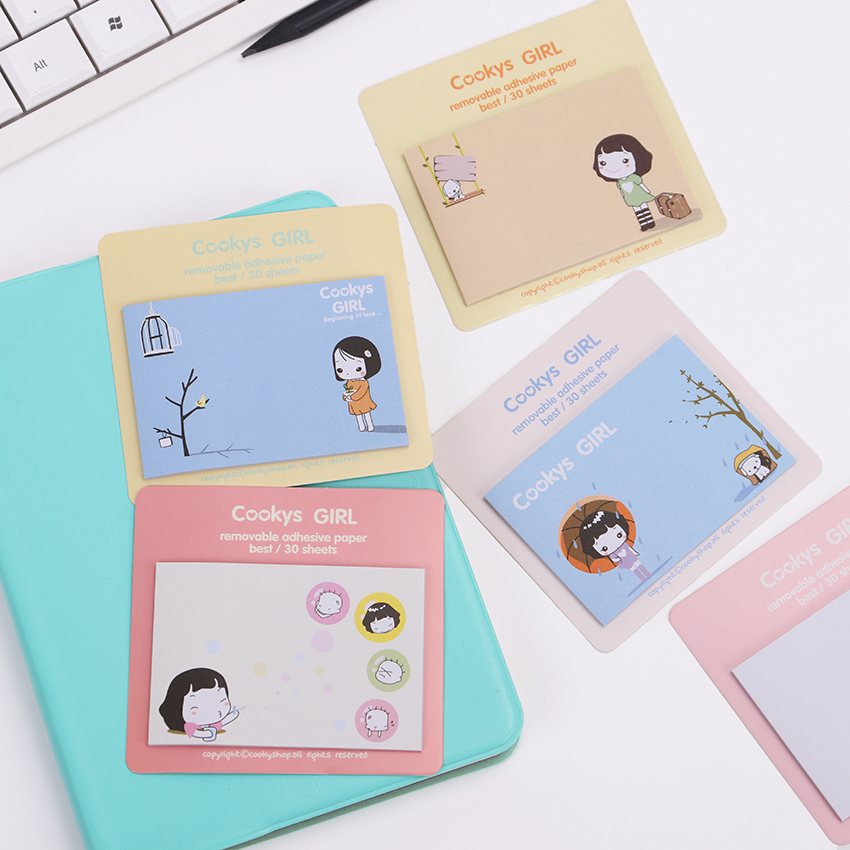 1PC Kawaii Cartoon Message Notepad Cheap Sticky Note Memo Pads Writing Scratch Pad Office School Supplies