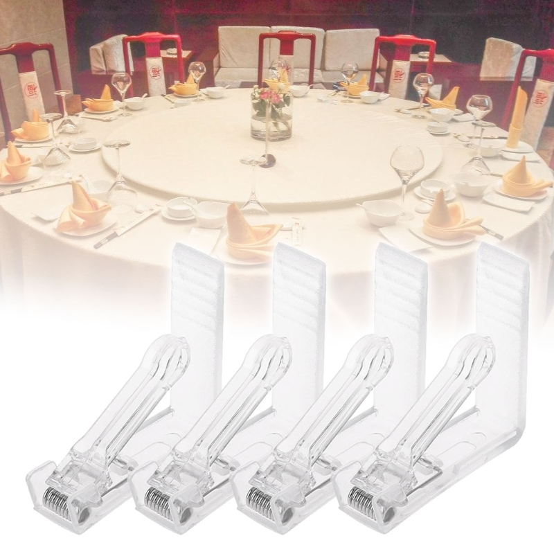 225 & US $1.6 25% OFF Durable and rust resistant 4Pcs Clear Plastic Table Cover Cloth Tablecloth Clip Clamp Holder Party Supplies 2019-in Tablecloths from ...