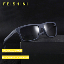 FEISHINI High Quality TR90 Photochro Glasses Vintage Plastic Titanium Frame Rectangle Sunglasses Men Polarized Brand Designer