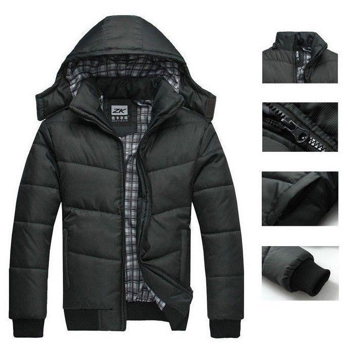 Winter Warm Jacket Men Hooded Slim Casual Coat Cotton-padded Jacket Parka Overcoat Hoodie Thick Coat Down Jackets Men's Clothing