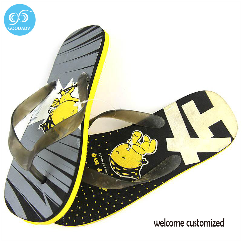 06923dc104a0 US $42.0 |2017 Mens Flip Flops Sandals Casual Men Shoes Summer Fashion  Beach Flip Flops masculino Custom slippers-in Slippers from Shoes on ...