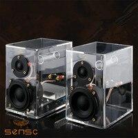 SENSC Transparent HiFi Speaker 2 0 Active Desktop Full Range Stereo Speaker New