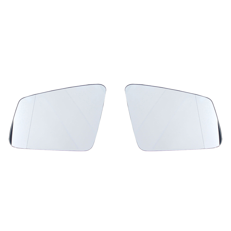 Right Side Wide Angle Wing Mirror Glass For Mercedes ML Class W164 Clip On Hea