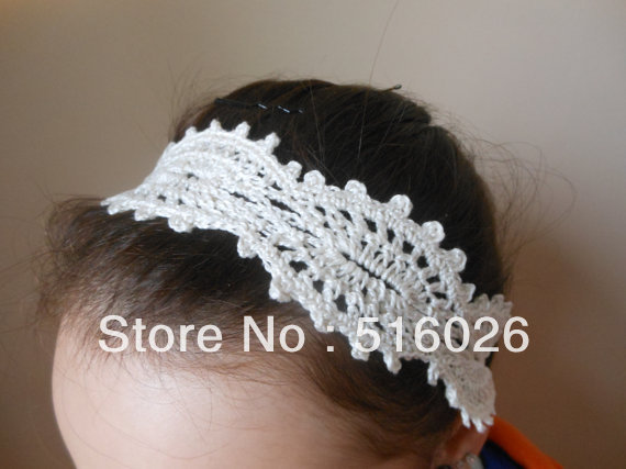 Fashion Crochet Headband, ivory Headband, Girls Hair Band, Head Accessories, summer, fashion hairewear color choice 10pcs/lot