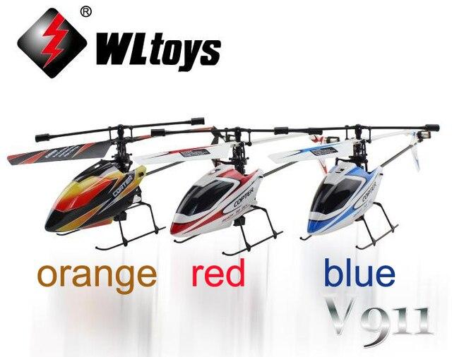 WL V911 RTF 4CH 2.4G Mini Radio enkele blade RC Helicopter met Gyro lcd-scherm WLtoys p2
