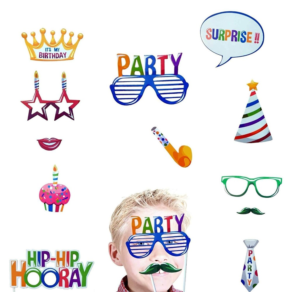 Image 5 - Happy Birthday Photobooth My First Superhero Decoration Kids Baby Boy Girl Adult Sweet 16 Party Decor Mexican Star Supplies-in Banners, Streamers & Confetti from Home & Garden