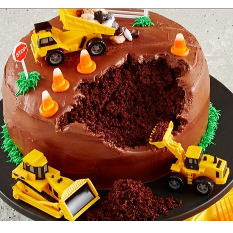 Junge Geburtstag Engineering Fahrzeug Kuchen Topper 4 Stucke Pvc