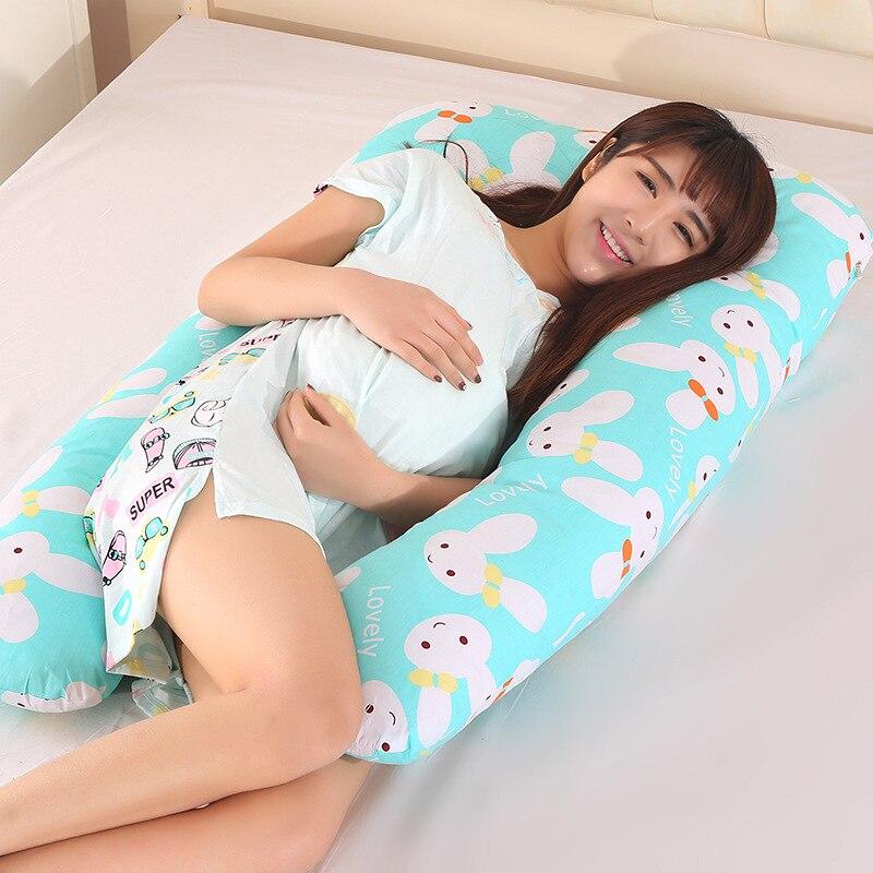 1 Pc Cuscini Per Il Corpo Di Sonno Pillow Gravidanza Pancia Sagomato Maternità U Coperchio Rimovibile In Gravidanza Comodo Cuscino Ou 025