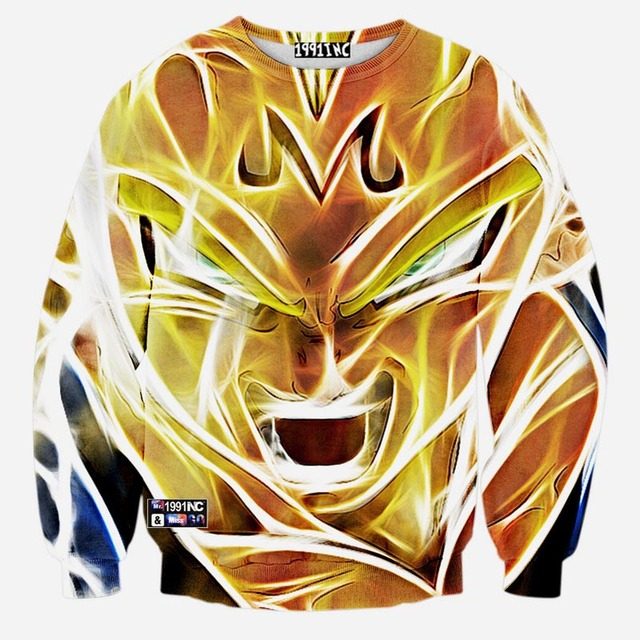 New Fashion Men Women 3d Sweatshirt Print Dragon Ball James Rihanna Stars Anime Men's Hoodies Hip Hop Streewear