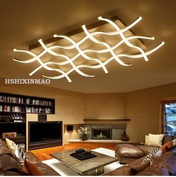 Retangular acrílico moderno sala de estar quarto lâmpadas de teto quadrado casa negócio conduziu luzes de teto 90-265 v