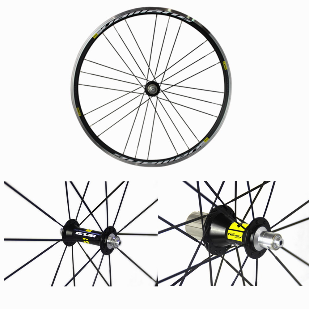 GUB Vaillant 700C road bike wheels front and rear aluminum V brake group 24 hole racing wheel 180 16 9 fast fold front and rear projection screen back