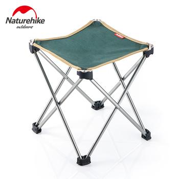 Naturehike Slacker krzesło kompaktowy składany stołek na zewnątrz Camping Walking polowanie piesze wycieczki wędkowanie podróży piknik wsparcie 297 lbs tanie i dobre opinie Naturehike Slacker Chair 7075 Aviation Grade Aluminum Alloy + Canvas 300g (0 66 Lbs) 25 x 25 x 28 cm (9 8 x 9 8 x 11 inch)