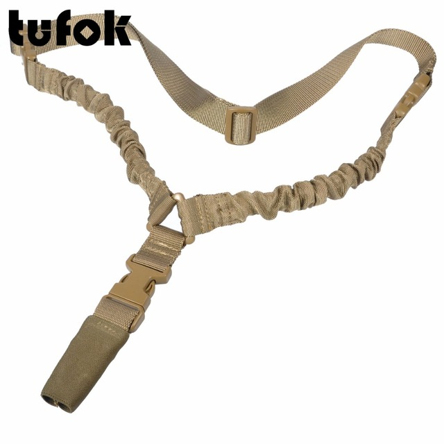 1 Point Safety >> Tufok Tactical 1 Point Sling Bungee Gun Strap Adjustable Rifle Sling
